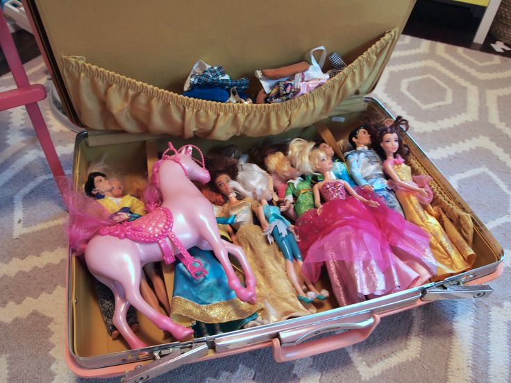 Suitcase to store barbie dolls- Toy Storage Solutions: Our Favorite Ways to Put Playthings in Their Place - ParentMap