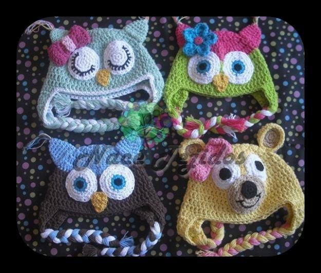 Gorros Tejidos en Crochet de Animalitos para Bebés! | Tejidos ...