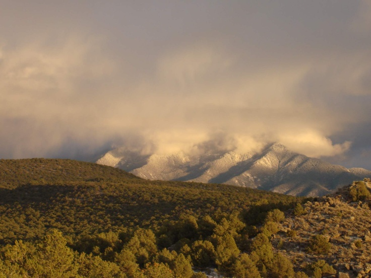 Sangre de Cristo Mountains blanketed in snow