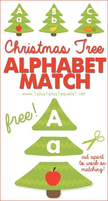 Christmas Tree Letter and Sound Match Printables {1plus1plus1} Carisa
