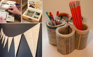 15 manières de recycler vos vieux livres