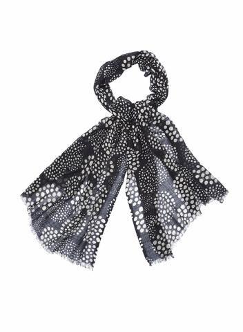 MARIMEKKO PALLERO SCARF BLACK, WHITE  #balls #dots #polkadots #scarf #cotton #blackandwhite #geometric #marimekko #pirkkoseattle #pirkkofinland