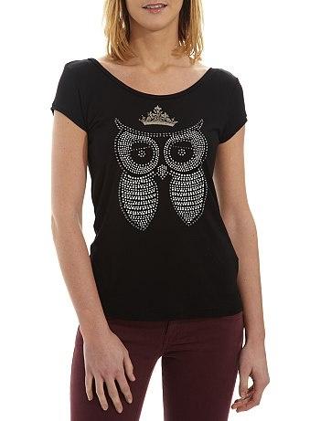 Tee-shirt motif hibou Femme - KIABI - 12€99