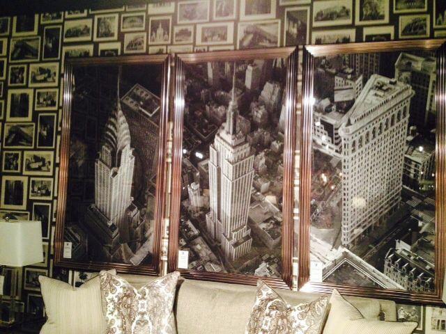 Sky Line Triptych At Our Show Las Vegas Market