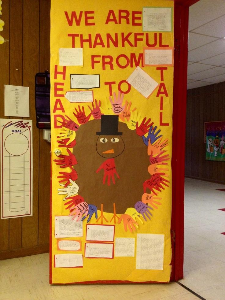 Thanksgiving Classroom Door Decorations ~ Classroom door decorated for thanksgiving my th graders