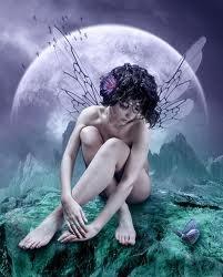 Ebony FairyBeautiful Fairies, Magic, Fantasy Art, Dark Fantasy, Fairies Art, Blue Art, Purple Flower, Fairies Tales, Moon Fairies