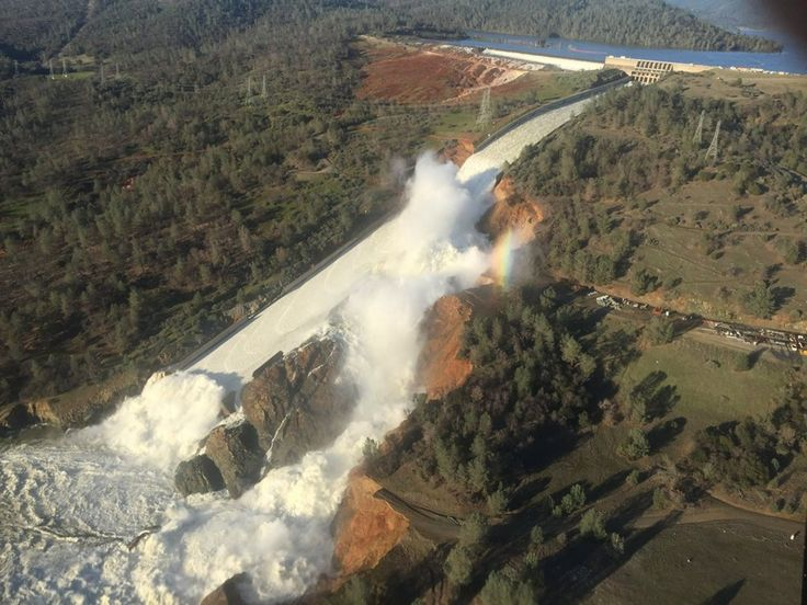 SEEMS IN CALIFORNIA IT'S FEAST OR  FAMINE 'NOT a drill': 188,000 residents ordered evacuated in Calif., as massive Oroville Dam threatens to flood