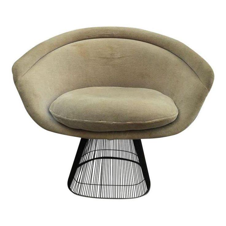 Platner for Knoll Sandstone Velvet Lounge Chair - Image 1 of 6