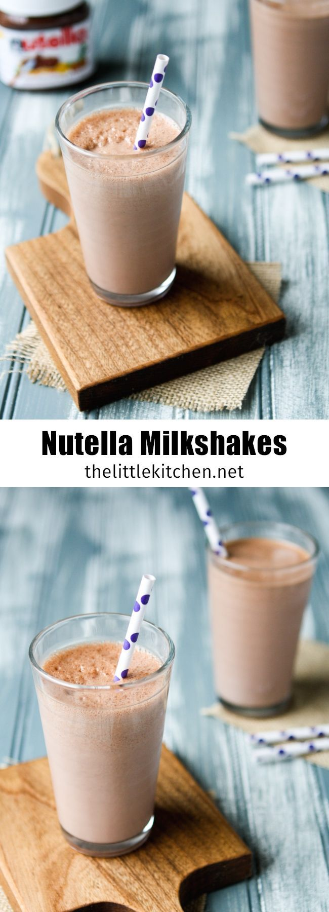 (this is wonderful and easy to make!) Nutella Milkshakes from thelittlekitchen.net