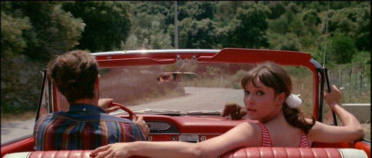 Film stills: Pierrot Le Fou (1965) | silver velvet sky