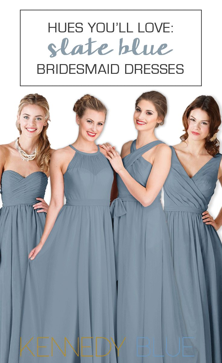 Why slate blue bridesmaid dresses are totally worth obsessing over!