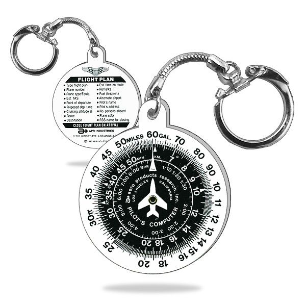 Perfect Pilot Gift! - E6B Flight Computer Key Chain with Time/Speed/Distance | Fallon Aviation Pilot Shop
