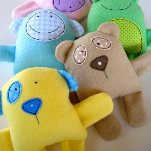 Baby Animal Softies Pattern by Precious Patterns