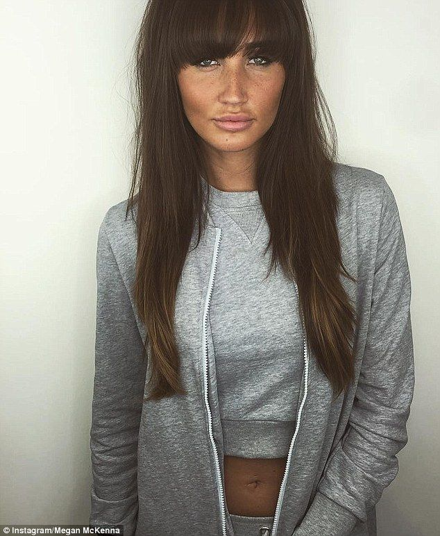 She bangs! Megan McKenna, 24, uploaded a snap of her new hairstyle to Instagram on Thursday - getting a cut in light of recent breakup with Pete Wicks