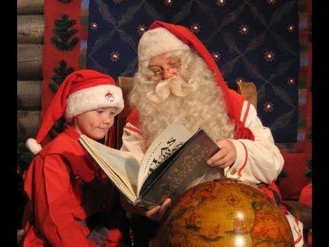 El dulce hogar de Papá Noel video / Santa Claus - Laponia Finlandia - YouTube Papa Noel cuenta porque vive in Laponia.