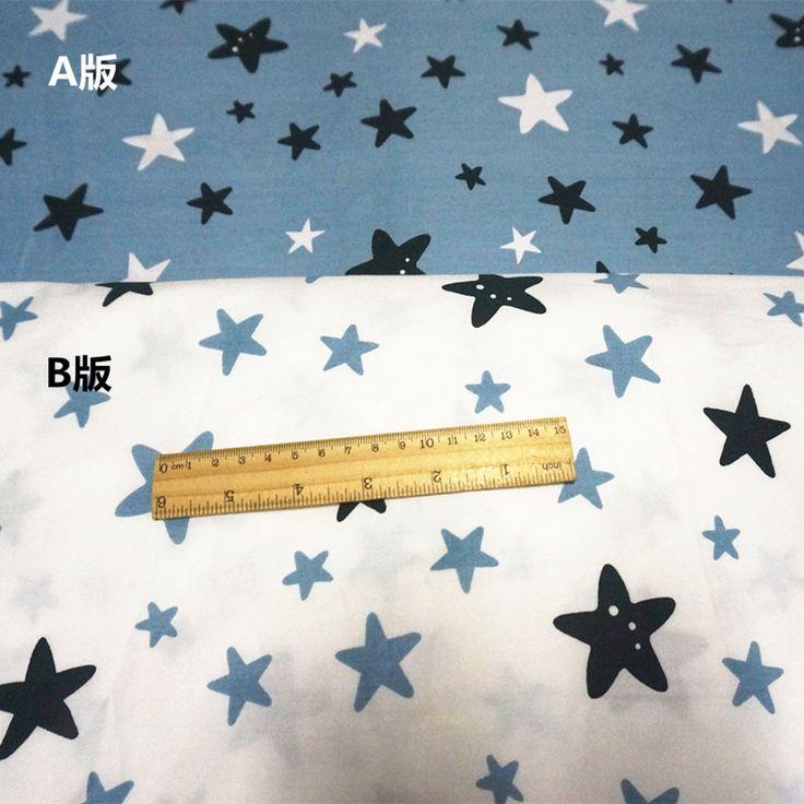 Купить 50 * 160 см 2 шт. 100% хлопок белый светло сизым посмотрите на звезды ткани сделай сам руководство шик малыша лист текстильной ремесло стегальную тканьи другие товары категории Тканьв магазине Constance's fabric boutiqueнаAliExpress. листовой из углеродистой и ткань листа