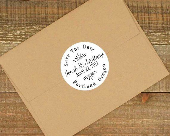 Save the Date labels- Personalized stickers, envelope ...
