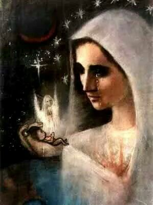 Holy Mother we pray to stop abortion....