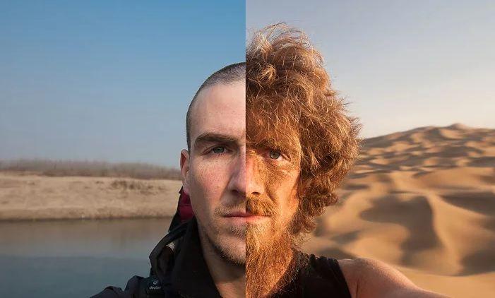 Από την Κίνα στη Γερμανία με τα πόδια! Δείτε το ταξίδι μέσα από τις καθημερινές selfies του!