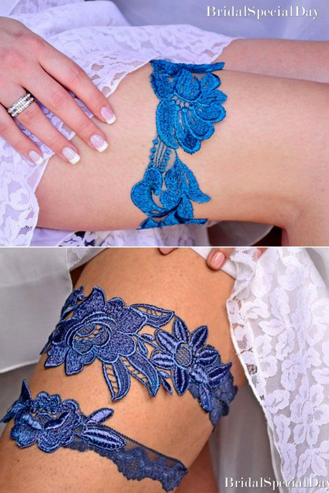 30 Most Pinned Photos In Blue Wedding Theme ❤ See more: http://www.weddingforward.com/blue-wedding-theme/ #weddings #dresses #garters