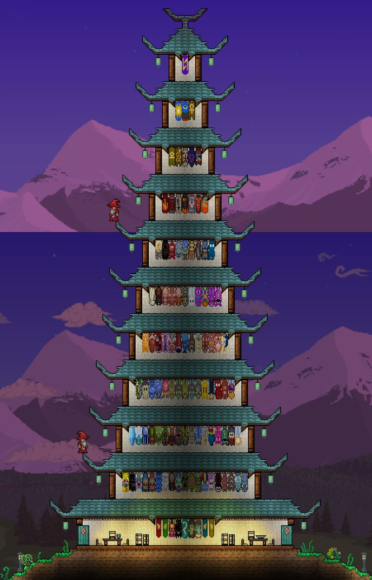 Terraria castle tower castle tower any tips terraria - Terraria Very Tall Pagoda For Banners