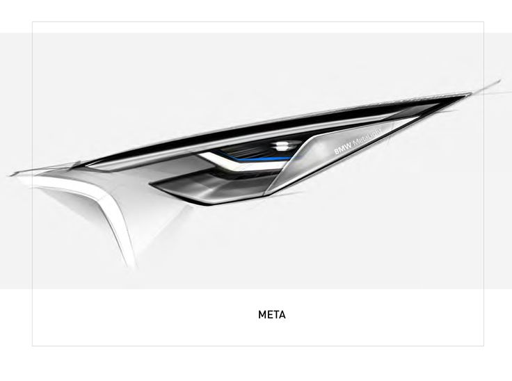 META BMW lights on Behance
