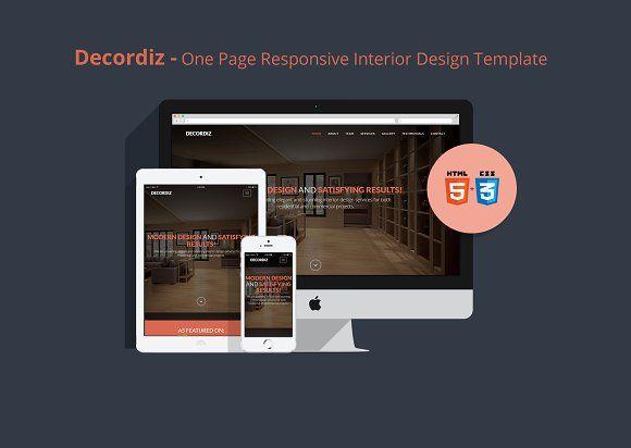 Decordiz - Interior Design Template by R_Amin on @creativemarket