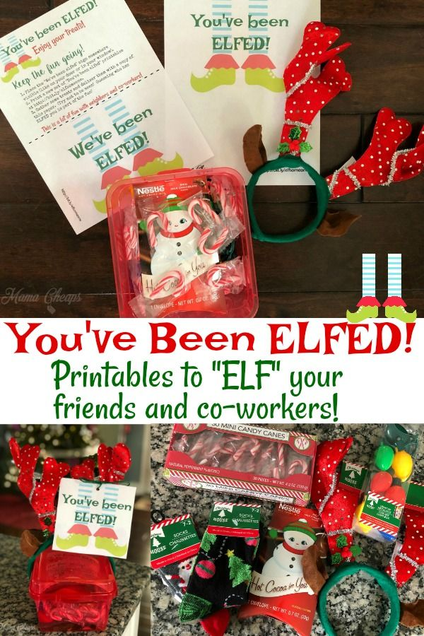 You've Been ELFED Printables Fun Secret Santa for