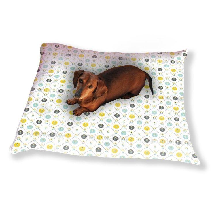 Uneekee Scandinavian Flowers Dog Pillow Luxury Dog / Cat Pet Bed