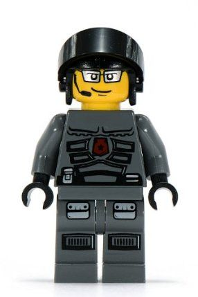 """LEGO Space Police 3 - Officer 1 ~ 2"""" Minifigure by LEGO. $11.79. One head which has TWO expressions.. Special minifigure exclusive to retired 2009 LEGO Space Police III set #5969-Squidman Escape.. Approximately 2 inches in height.. LEGO collectible minifigure."""