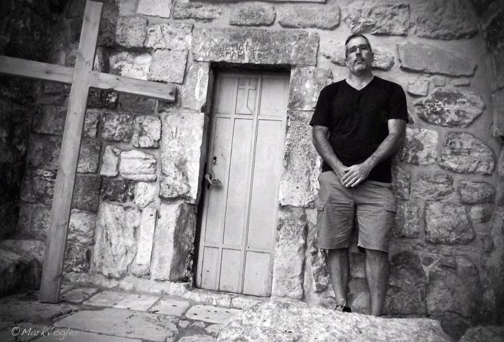 Waiting for #Jesus  - Standing outside the small door used by the knights of the First Crusade 1099 to enter & take back the Church Of The Holy Sepulcher housing Jesus's tomb #Jerusalem #TBT 2012 #GoodFriday #Easter