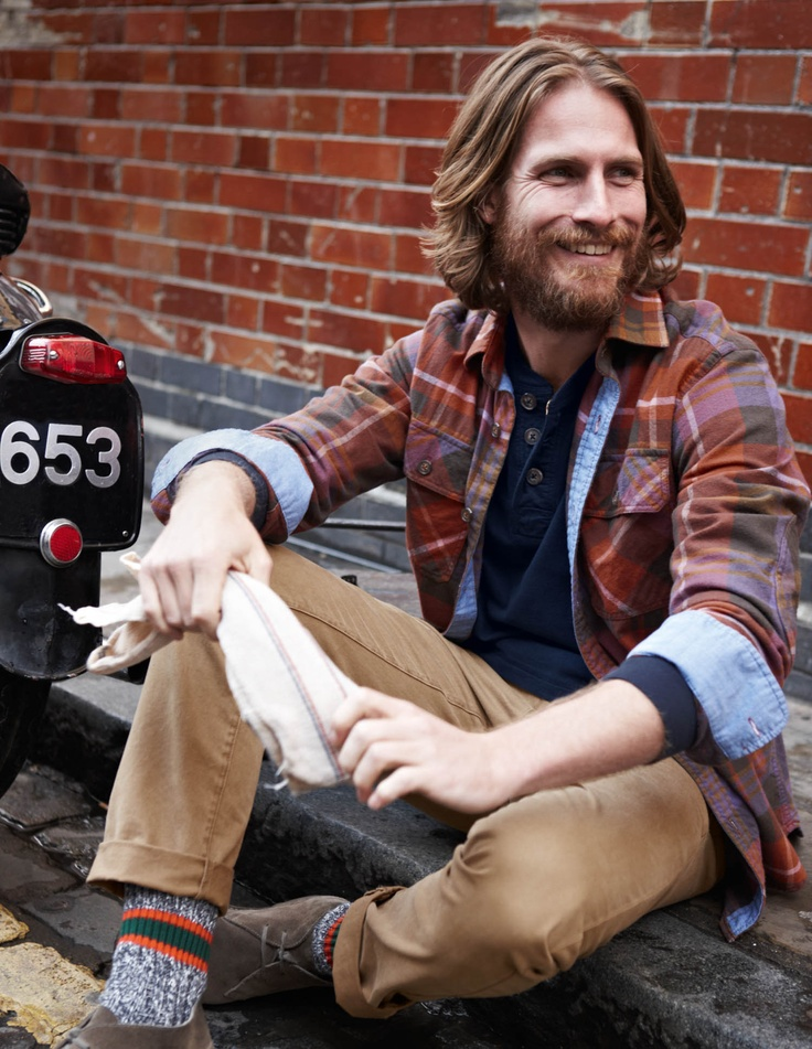 Men with beards in overshirts. #yay #bodenPlaid Shirts