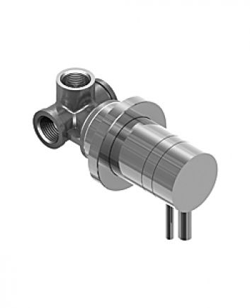 """Amox 1/2"""" concealed round thermo shower valve brushed stainless steel"""