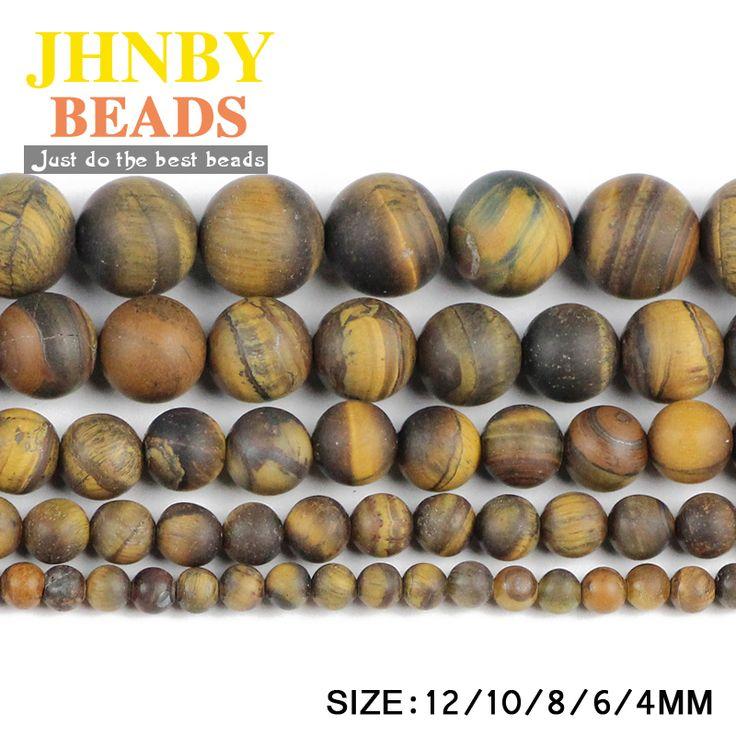Aliexpress.com: Comprar JHNBY Mate granos Flojos Redondos de Piedra del ojo del Tigre Natural de Alta calidad bola 4/6/8/10/12 MM pulsera hacer accesorios de Joyería DIY de accessories diy fiable proveedores en JHNBY (Johan's Beads) Store