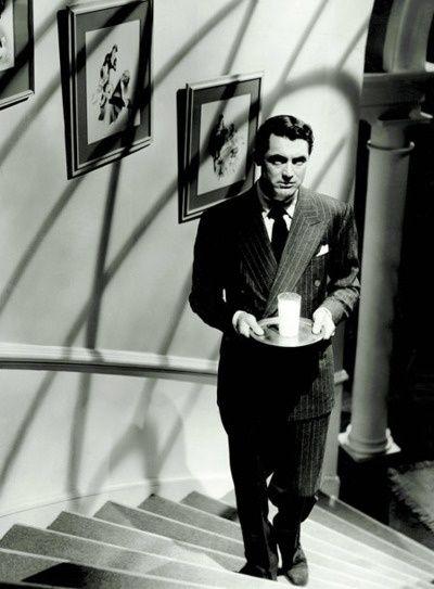 Cary Grant in Suspicion, 1941, dir. Alfred Hitchcock