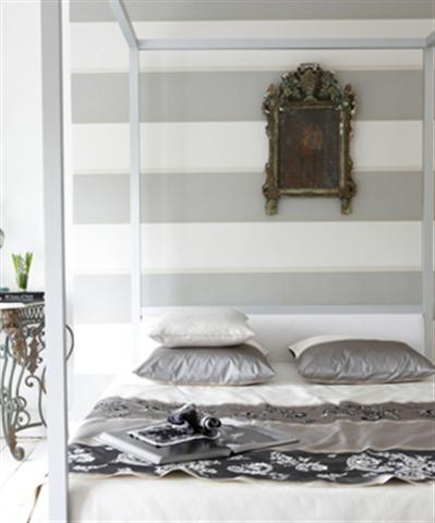 Contemporary Stripe Wallpaper Grey And White Stripes