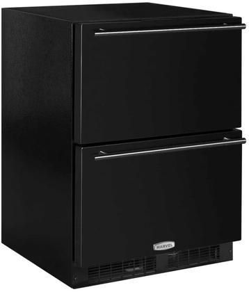 """ML24RDP3NB 24"""" Marvel Refrigerated Drawers with Dynamic Cooling Technology Thermal Efficient Cabinet Multifunction Marvel Intuit and Close Door Assist System in Black"""