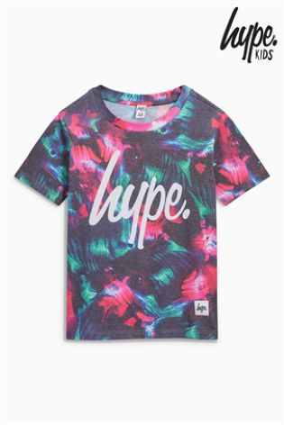 Black/Red River Hype Printed T-Shirt