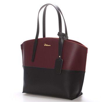 #novinka Představujeme Vám luxusní dámskou koženou kabelku v černo-vínové barvě Delami s nadčasovým a zároveň trendy designem. Do kabelky se dostanete přes zip a uvnitř na vás čeká otevřený prostor s postranními kapsičkami.