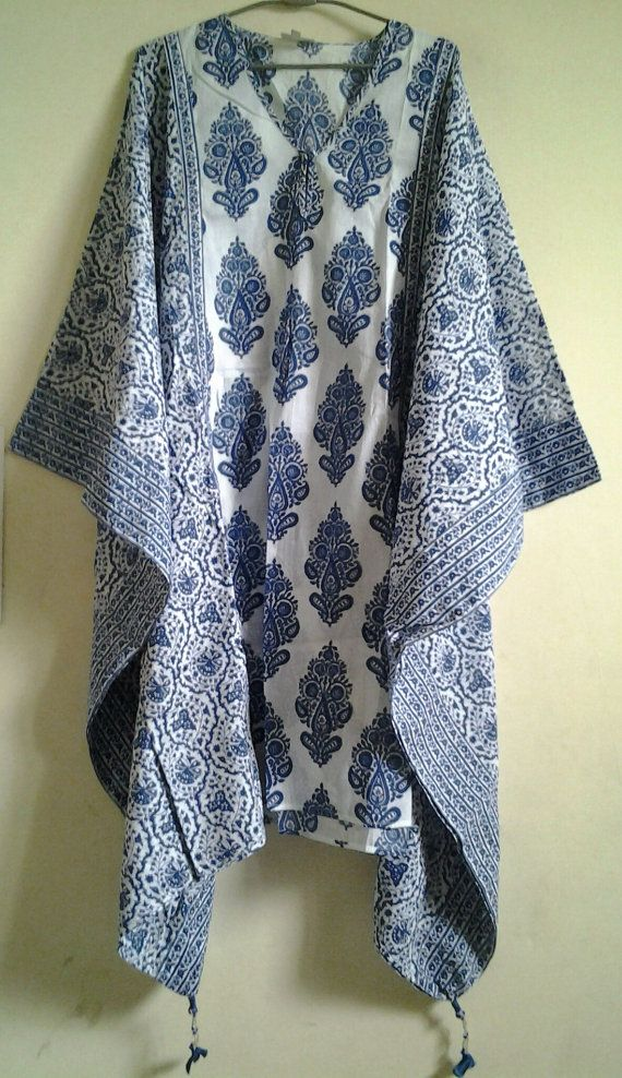 Crisp Anokhi Cobalt blue Persian Floral & Paisley by Khadiwallah