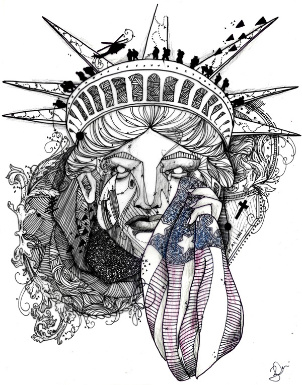 Remembrance 9/11 Illustration by Nina Zivkovic, via Behance