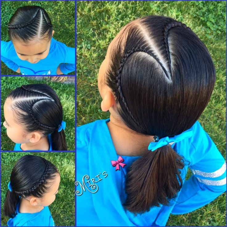 Heart Hair Style For Little Girls Peinados Pinterest
