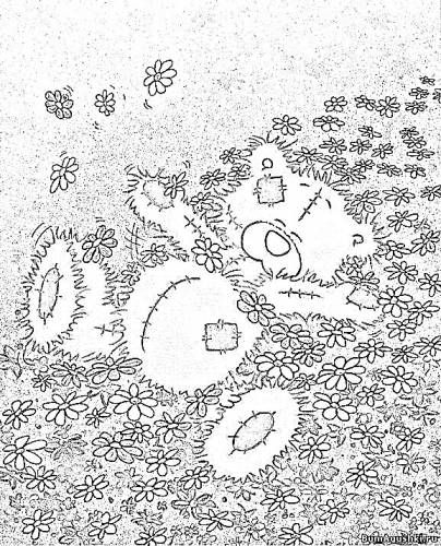 tatty teddy coloring pages - 27 best forever friends kleurplaten images on pinterest