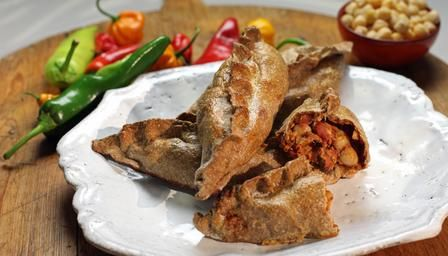 Curried cod pasty