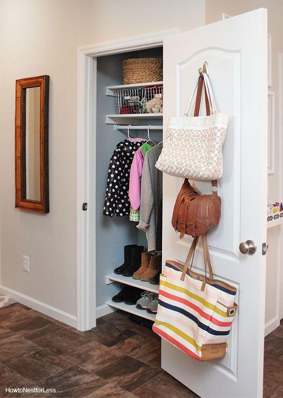 organized foyer coat closet