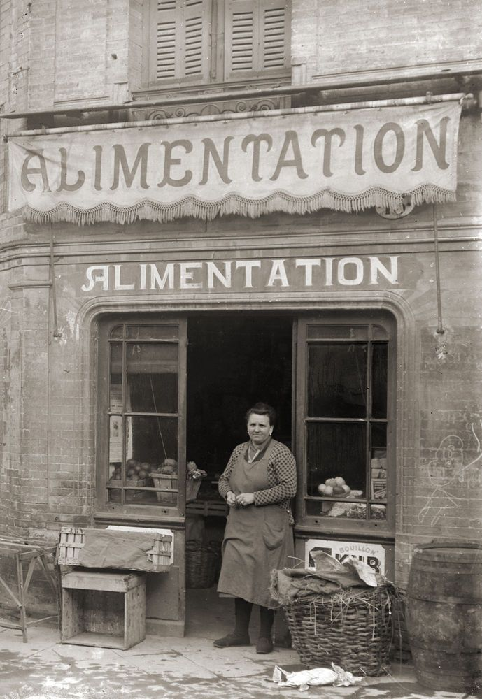 Commerce epicerie alimentation primeurs toulouse photo ancienne 1920 retirage anciens for Photos maisons anciennes