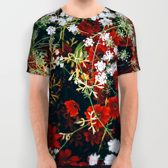 Floral All Over Print Shirt by Mixed Imagery | Society6