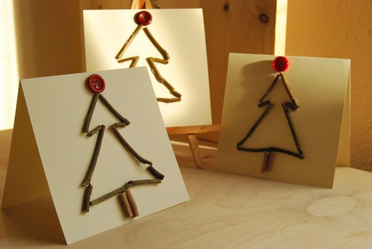 tarjetas-navidenas-manualidades-con-ramas