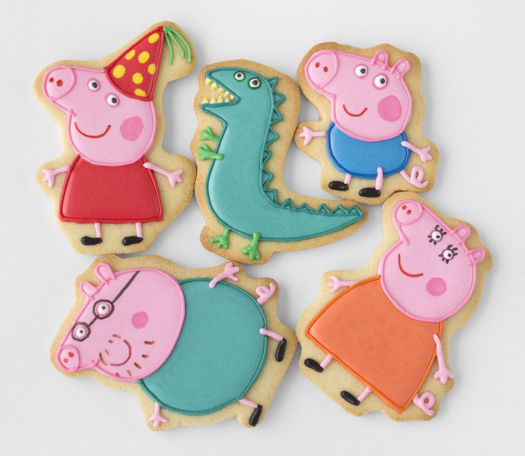 Postreadicción decorated cookies, cupcakes and cakepops: Feast of Peppa Pig and new course of biscuits!