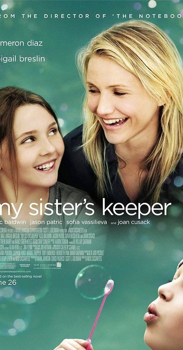 an analysis of my sisters keeper a movie by nick cassavetes Director nick cassavetes has directed both a weepy family drama (the notebook) and a film that delves into medical ethics (john q) with my sister's .